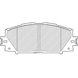 Комплект тормозных колодок, дисковый тормоз (Ferodo) FDB4310