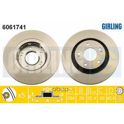 Тормозной диск (Girling) 6061741