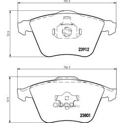 Комплект тормозных колодок, дисковый тормоз (Hella) 8DB355012281