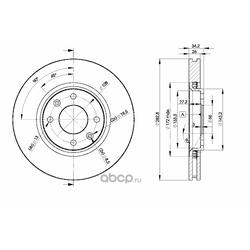 Тормозной диск (Icer) 78BD4752