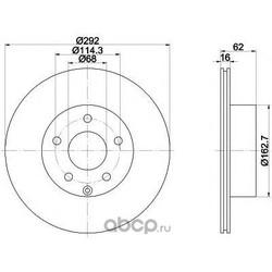 Тормозной диск (Mintex) MDC1786