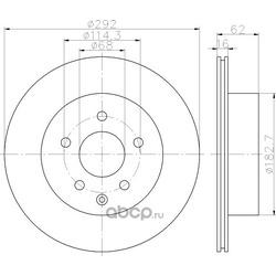 Тормозной диск (Hella) 8DD355118711