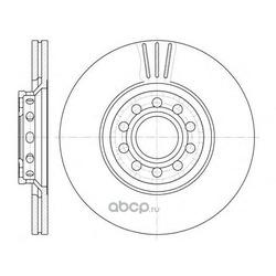Тормозной диск (Remsa) 659610