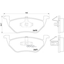 Колодки тормозные дисковые, комплект (Textar) 2467001