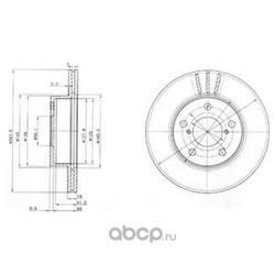 Тормозной диск (Delphi) BG3151
