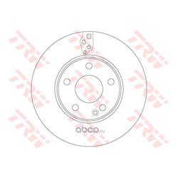 Тормозной диск (TRW/Lucas) DF6548
