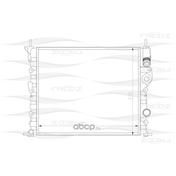 Радиатор (FREE-Z) KK0186