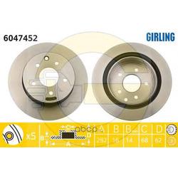 Тормозной диск (Girling) 6047452