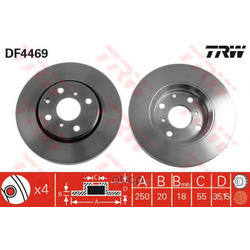 Тормозной диск (TRW/Lucas) DF4469