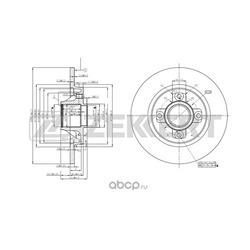 Тормозной диск (Zekkert) BS5237