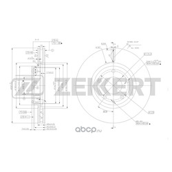 Диск.торм.перед. Mazda 6 III 13- Mazda CX-5 11- (Zekkert) BS5488