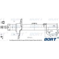 Стойка амортизационная газомасляная передняя левая (BORT) G22250191L