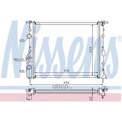Радиатор охлаждения двигателя (Nissens) 639371
