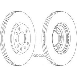 Тормозной диск (Ferodo) DDF1042