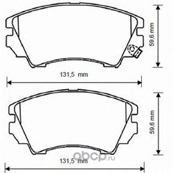 Комплект тормозных колодок, дисковый тормоз (Jurid) 573269J