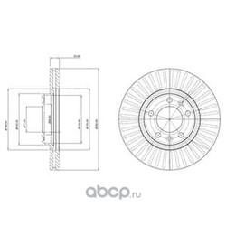 Тормозной диск (Delphi) BG3835