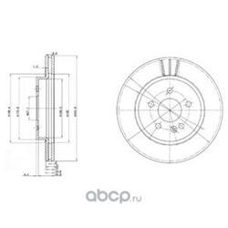 Тормозной диск (Delphi) BG3397