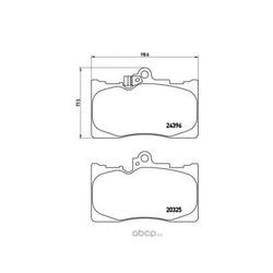 Комплект тормозных колодок, дисковый тормоз (Brembo) P83072