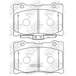 Колодки тормозные дисковые (NiBK) PN8801
