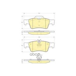 Комплект тормозных колодок, дисковый тормоз (Girling) 6115462