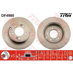 Диск тормозной (TRW/Lucas) DF4980