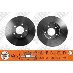 Диск тормозной передний (NiBK) RN1193