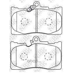 Колодки тормозные дисковые (NiBK) PN1547