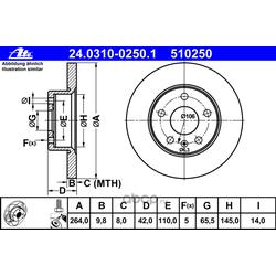 "Диск тормозной, ""PowerDisc (Ate) 24031002501"