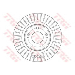 Тормозной диск (TRW/Lucas) DF6174