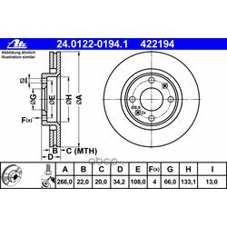 Тормозной диск (Ate) 24012201941