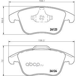 Колодки тормозные передние (Abs) 37568