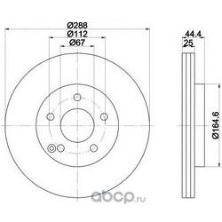 Тормозной диск (Mintex) MDC1845