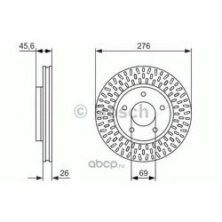 Диск тормозной, передний (Bosch) 0986479783