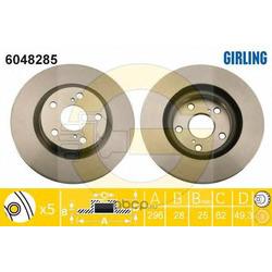 Тормозной диск (Girling) 6048285