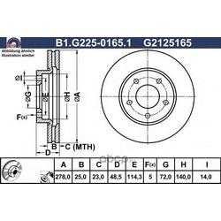 Тормозной диск (GALFER) B1G22501651