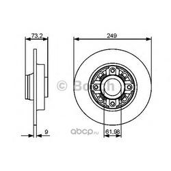 Диск тормозной задний (Bosch) 0986479388