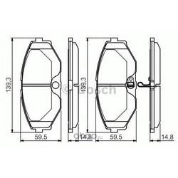 Комплект тормозных колодок (Bosch) 0986495147