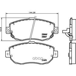 Комплект тормозных колодок, дисковый тормоз (Hella) 8DB355010151
