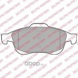Колодки тормозные дисковые, комплект (Delphi) LP2101
