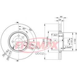 Тормозной диск (FREMAX) BD7897