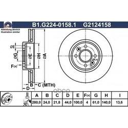 Тормозной диск (GALFER) B1G22401581