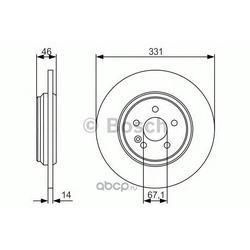 Тормозной диск (Bosch) 0986479S12