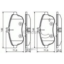 Комплект тормозных колодок (Bosch) 0986495104