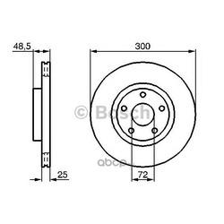 Тормозной диск (Bosch) 0986479183