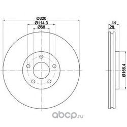 Тормозной диск (Mintex) MDC2178
