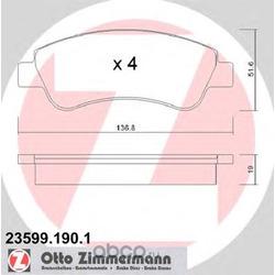 Комплект тормозных колодок, дисковый тормоз (Zimmermann) 235991901