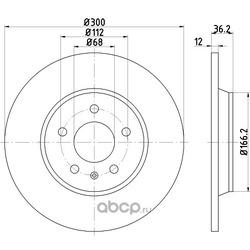 Тормозной диск (Hella) 8DD355113931