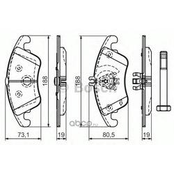 Колодки тормозные дисковые передние комплект (Bosch) 0986494263