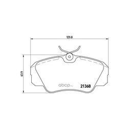 Комплект тормозных колодок, дисковый тормоз (Brembo) P59016