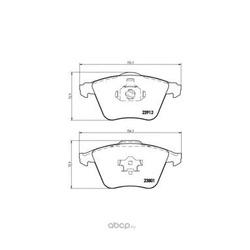 Колодки тормозные дисковые передние, комплект (Brembo) P24057